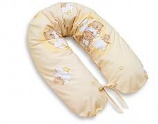 Relaxační polštář béžový se spícími medvídky