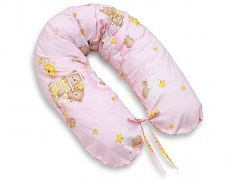 Relaxační polštář růžový se spícími medvídky