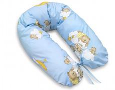 Relaxační polštář modrý se spícími medvídky