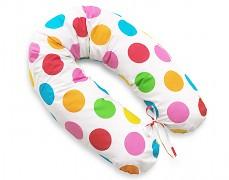 Relaxační polštář barevné puntíky velké