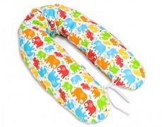 Relaxační polštář barevní sloníci