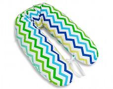 Relaxační polštář zeleno-modrý ZigZag