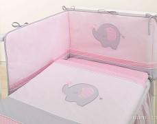 Dětské povlečení růžové slůně 120x90