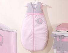 Dětský spací pytel růžové slůně dl.74