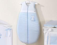 Dětský spací pytel modré sovky