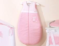 Dětský spací pytel růžové sovky