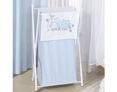 Koš na prádlo modré sovky