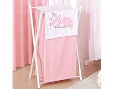 Koš na prádlo růžové sovky
