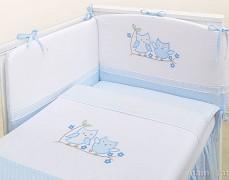 Dětské povlečení modré sovky 120x90