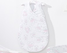 Dětský spací pytel růžový medvěd