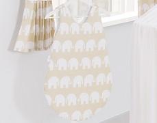 Dětský spací pytel béžový slon