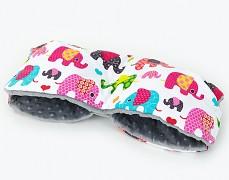 Rukávník růžoví sloni se šedou