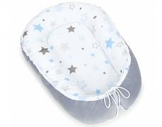Hnízdečko modro-šedá stars velvet, oboustranné