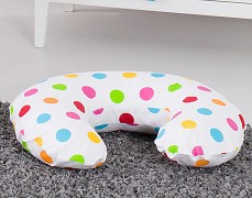 Kojící polštář barevné puntíky
