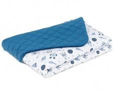 Dětská deka modrá kosmos velvet, LETNÍ