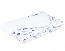 Dětská deka bílá kosmos velvet, LETNÍ