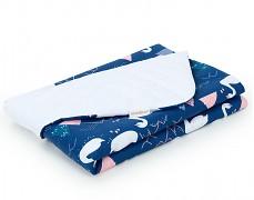 Dětská deka modro-bílé labutě velvet, LETNÍ