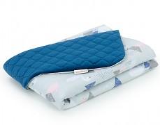 Dětská deka šedo-modré labutě velvet, LETNÍ