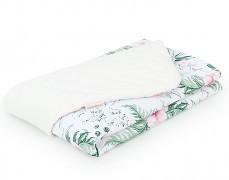 Dětská deka růžová zahrada s krémovou velvet, LETNÍ