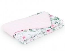 Dětská deka růžová zahrada s růžovou velvet, LETNÍ