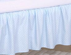 Volánek pod matraci modré slůně/sovky