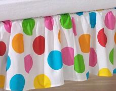 Volánek pod matraci barevné puntíky velké
