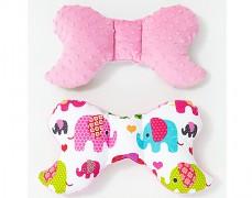 Stabilizační polštářek růžová sloni s růžovou