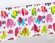 Volánek pod matraci růžový sloni