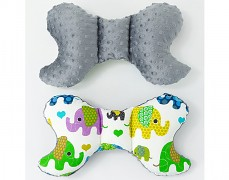 Stabilizační polštářek zelená sloni s šedou