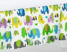 Volánek pod matraci zelení sloni