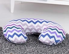 Kojící polštář fialový ZigZag