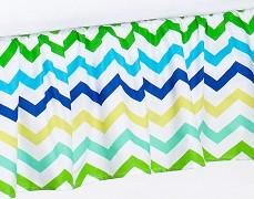 Volánek pod matraci zeleno-modrý ZigZag