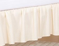 Volánek pod matraci krémové sovky