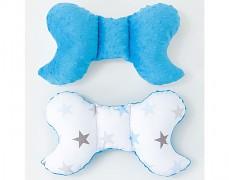 Stabilizační polštářek modro-šedé hvězdičky