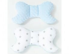 Stabilizační polštářek šedá hvězda s modrou