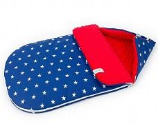 Fusak modrá hvězda s červenou