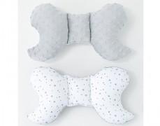 Stabilizační polštářek bílé mini hvězdičky s šedou