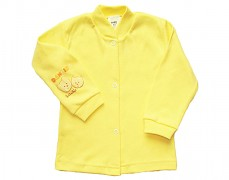 Kabátek žlutý se zvířátky vel.74