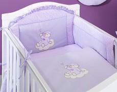 Mantinel fialový obláček kostička
