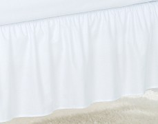 Volánek pod matraci bílý