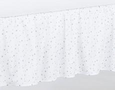 Volánek pod matraci bílý mini hvězdičky