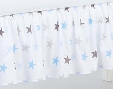 Volánek pod matraci modro-šedé hvězdičky