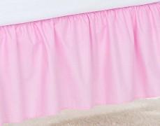 Volánek pod matraci růžový