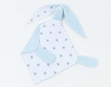 Mazlík králíček šedá hvězda s modrou
