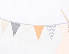 Girlanda šedé mini hvězdičky s béžovou