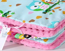 Set mentolové sovičky s růžovou