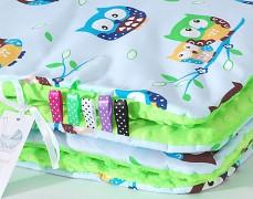 Set modré sovičky se zelenou