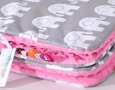 Set šedý slon s růžovou