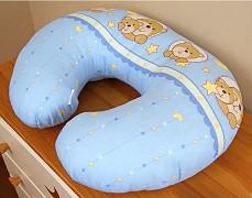 Kojící polštář modrý medvídek v kolečku