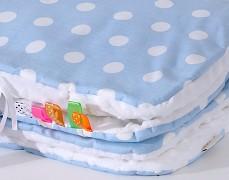 Set modrý puntík s bílou